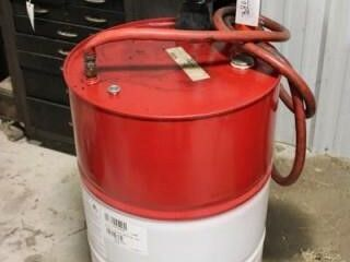 Empty 55 gal  with Central Pneumatic pump and dolt