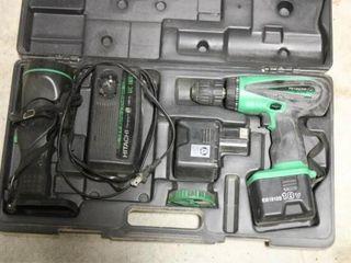 Hitachi Cordless Drill  light  2 Battery