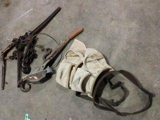 3 Ea Boomers 1 Set Come Alongs  2ea tool belts