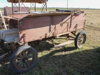 Ford Model T frame with mail order grain bed