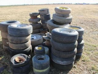 52 ea  Assorted Tires and Wheels