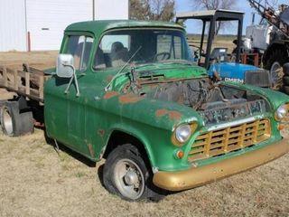 1956 GMC Pickup with wood bed  Beer Keg Gas Tank