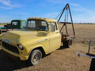 1956 Chevrolet 3200 Truck V 8   winch and poles