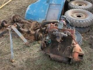 1947 Willys Jeep Parts  Engine  Trans  Doors  Top