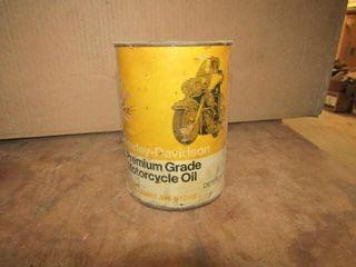 Vintage Harley Davidson Cardboard Oil Can Full