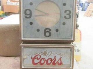 Coors Beer Clock
