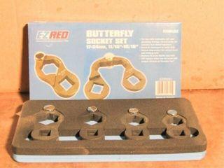 EZ Red Butterfly Socket Set