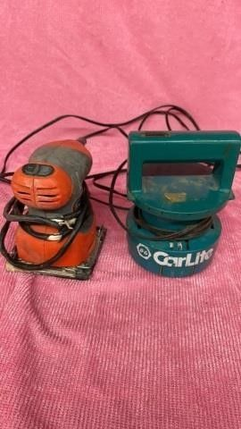 BlACK AND DECKER SANDER AND CARlITE