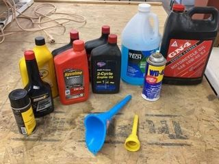 MOTOR OIlS  FUNNElS  AND OTHER GARAGE PRODUCTS