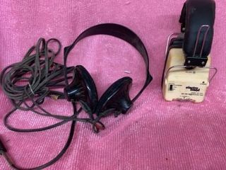 VINTAGE 2 SETS OF HEADPHONES  ElECTRO BRAND AND