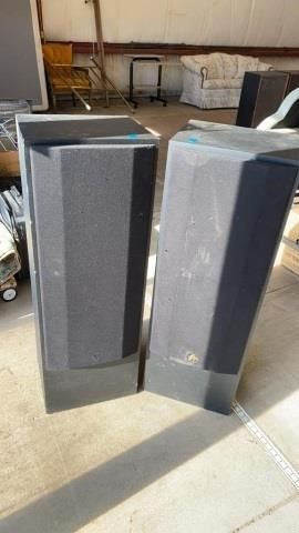 PAIR OF FISHER 41 INCH SPEAKERS   3 WAY