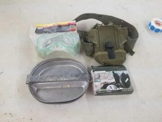 GOGGlES  BIBlESTICK  CANTEEN BElT  ARMY MESS KIT
