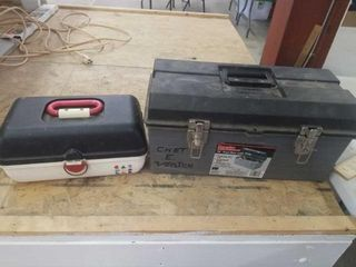 2 FISHING TACKlE BOXES