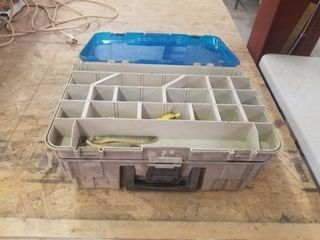 PlANCO TACKlE BOX WITH FISHING ITEMS