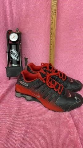BEll FOOT PUMP AIR PUMP ANS SIZE 10 MENS NIKE