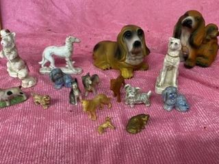 BOX OF DOG FIGURINES