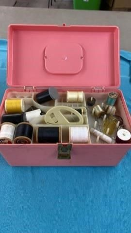 SEWING BOX WITH SEWING GOODS