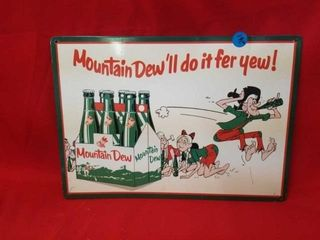 16  X12  MOUNTAIN DEW SIGN