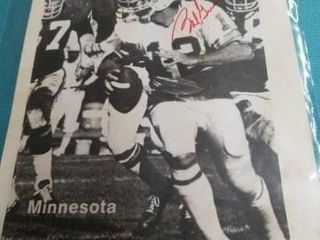 VINTAGE BOB GRIESE SIGNED FOOTBAll PHOTO