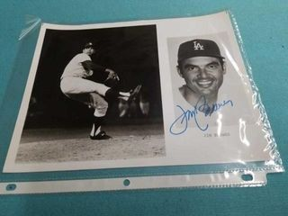 VINTAGE 60 S JIM BREWER DODGERS SIGNED PHOTO