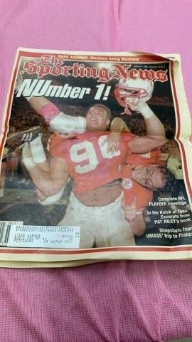 SPORTING MEWS   JAN 9 1995 NEBRASKA ORANGE BOWl