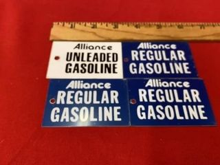 VINTAGE 1960IJS GASOlINE PUMP TAGS