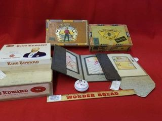 CIGAR BOXES  VINTAGE PICTURE FRAME AND 2 1980 S