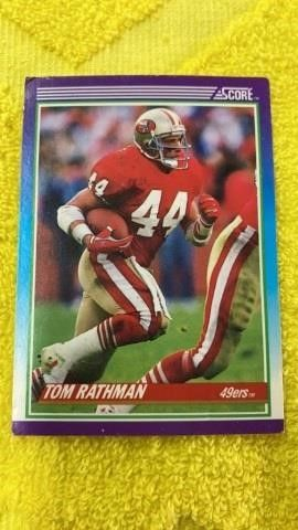 TOM RATHMAN  1989 SCORE SAN FRANCISCO 49ERS