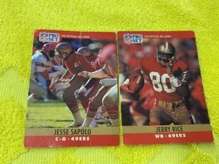 JERRY RICE AND JESSE SAPUlO SAN FRANCISCO 49ERS