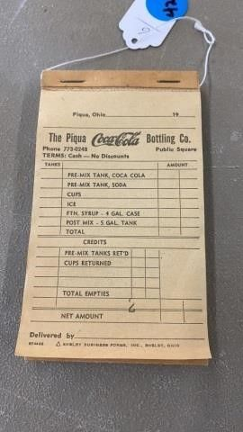 VINTAGE COCA COlA SAlES BOOK   UNUSED