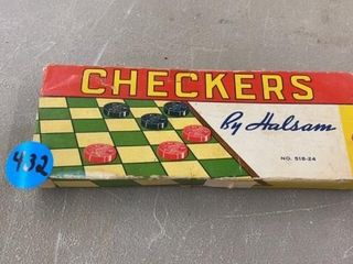 VINTAGE CHECKERS BY HAlSAM IN BOX