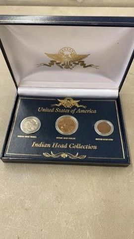 US 3 COIN INDIAN HEAD COllECTION