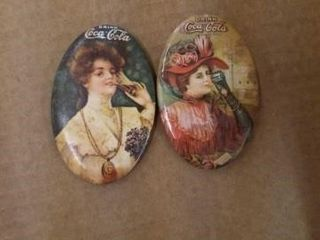 2 COCA COlA POCKET MIRRORS