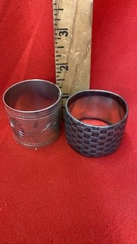 2 ANTIQUE NAPKIN RINGS