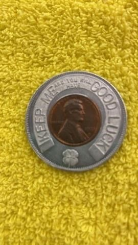 1972 FAIRBURY FIRST NATl BANK GOOD lUCK TOKEN