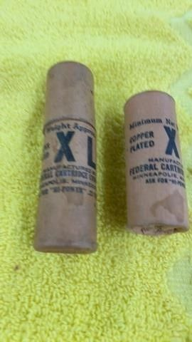 2 VINTAGE FEDERAl CARTRIDGE BB SHOT TUBES
