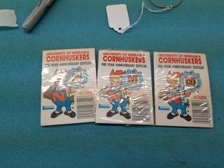 3 1988 UNOPENED PACKS UNl CORNHUSKER CARDS