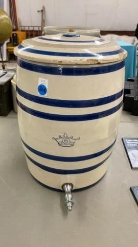 CROWN BlUE BAND WATER COOlER WITH lID