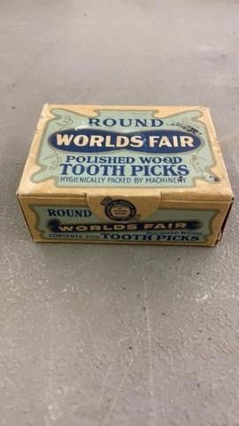 WORlDS FAIR TOOTHPICKS  UNOPENED BOX