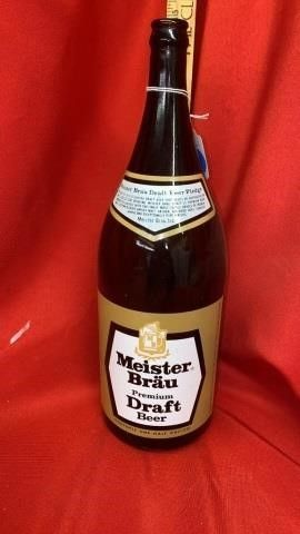 MEISTERBRAU DRAFT BEER BOTTlE  1 2 Gallon