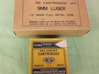 VINTAGE CANADIAN MIlITARY SHEll BOXES