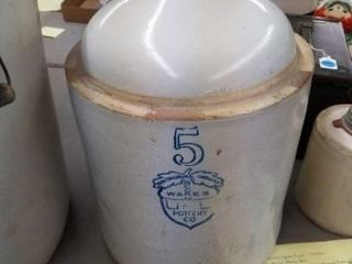 ACCORN WARES 5 GAllON JUG UHl POTTERY CO   VERY
