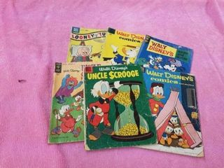 6 DISNEY CHARACTER COMIC BOOKS   10 CENT AND 12