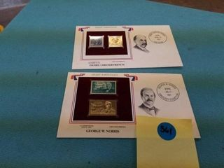 2  22 GOlD REPlICA STAMPS