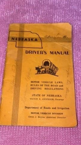 1954 NEBRASKA DRIVERS MANUAl
