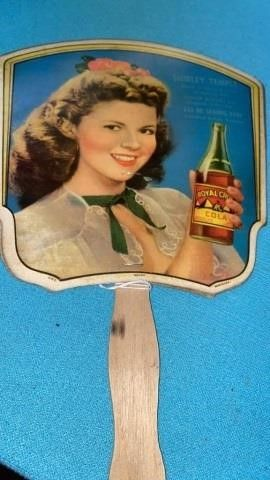 SHIRlEY TEMPlE ROYAl CROWN COlA ADVERTISING HAND