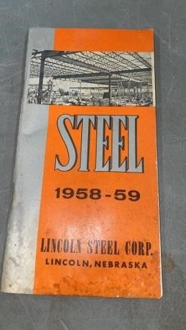 1958 59 lINCOlN STEEl CORP PRODUCTS CATAlOG