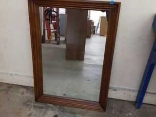 41 X29  DARK WOOD MIRROR