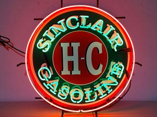 Sinclair tin neon sign  24in