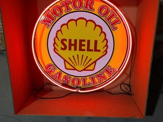 Shell tin neon sign  24in